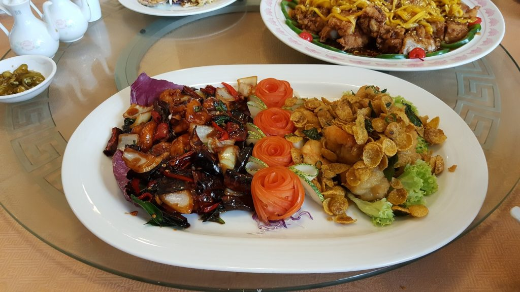 Blessings of the Lions at Meisan Szechuan Restaurant in Mutiara Hotel