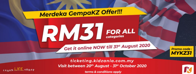 "Merdeka Special: ""Merdeka GempaKZ"" Promotion at KidZania Kuala Lumpur"