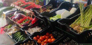 Vegetables sold in local supermarket
