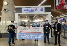 Malaysia Airlines (MAS) sponsored the flight of the first four of Ihsan Johor volunteers to Sabah